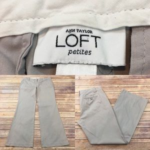 Size 4P Petites LOFT Gray Bootcut Stretch Pants